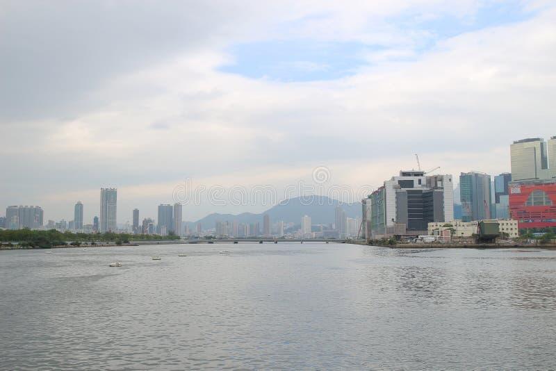 Укрытие тайфуна схвата Kwun на kwoloon hk стоковое изображение rf
