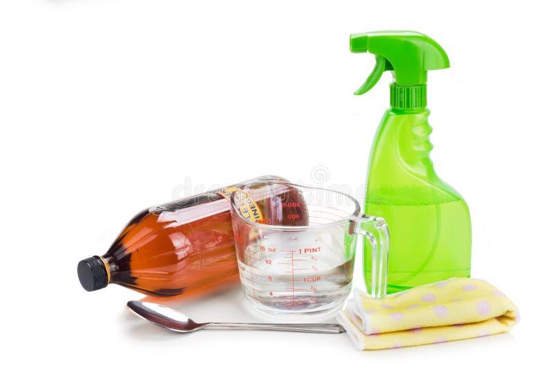 Уксус яблочного сидра, эффективное естественное решение для cleani дома стоковая фотография