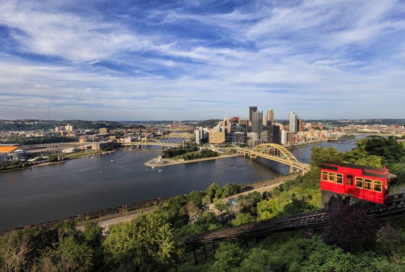 Уклон Duquesne в Питтсбурге стоковое изображение rf