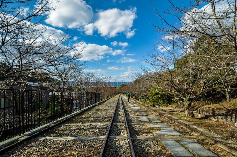 Уклон Keage в Киото, Японии стоковые фото