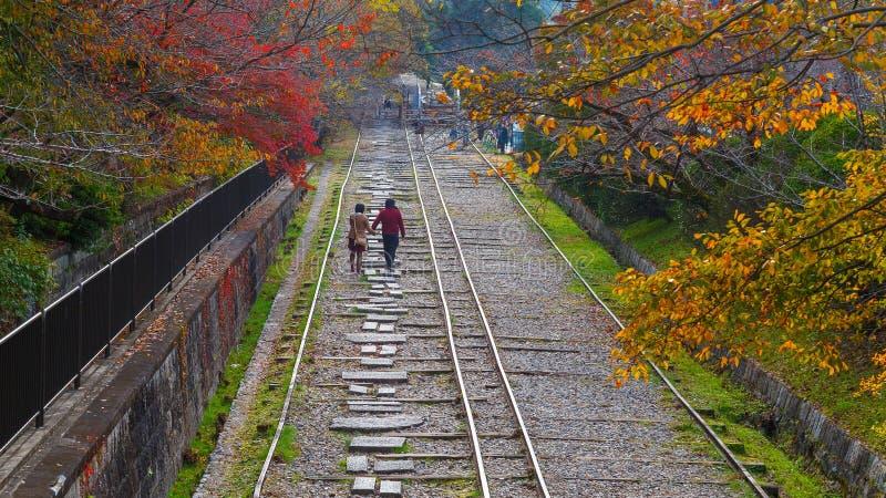Уклон Keage, около виска Nanzenji в Киото, Япония стоковые фото