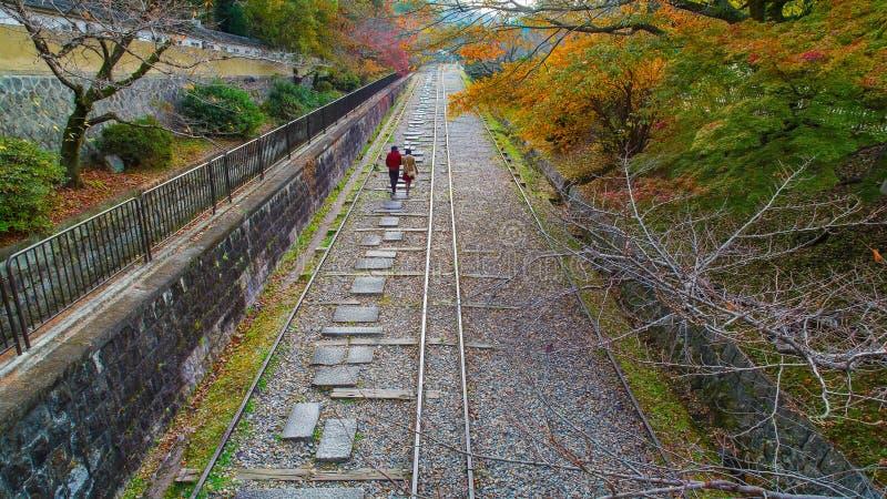 Уклон Keage, около виска Nanzenji в Киото стоковые изображения