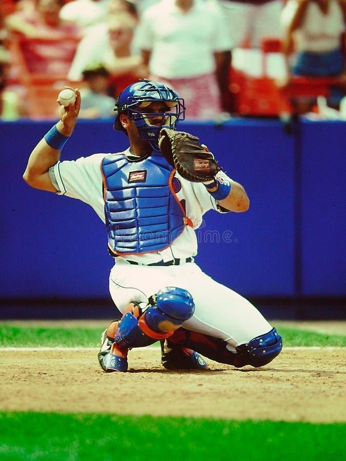 Улавливатель New York Mets аркады Майк стоковые изображения