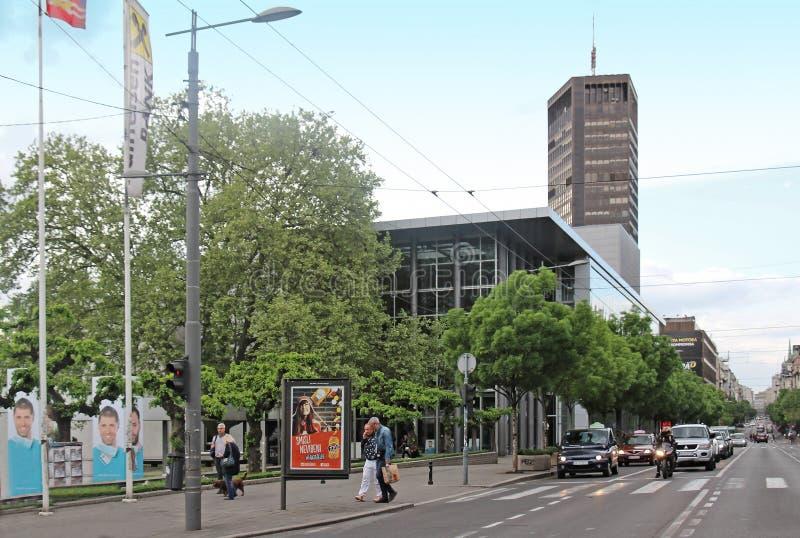 Улица Белграда Kralja Milana стоковые фото