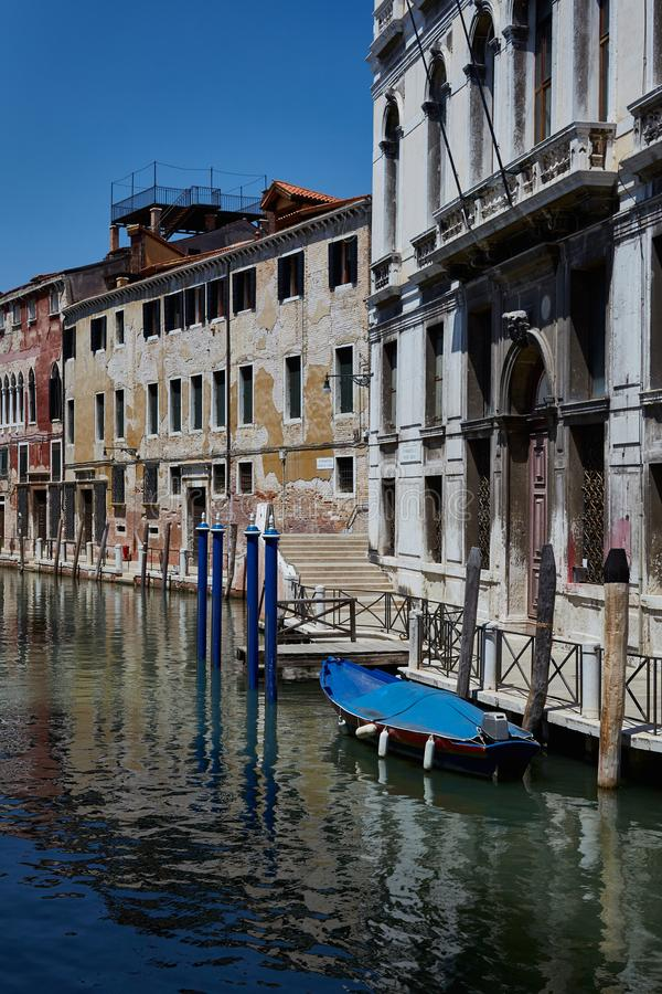 Улица Венеции E Канал Fondamenta Daniele стоковая фотография
