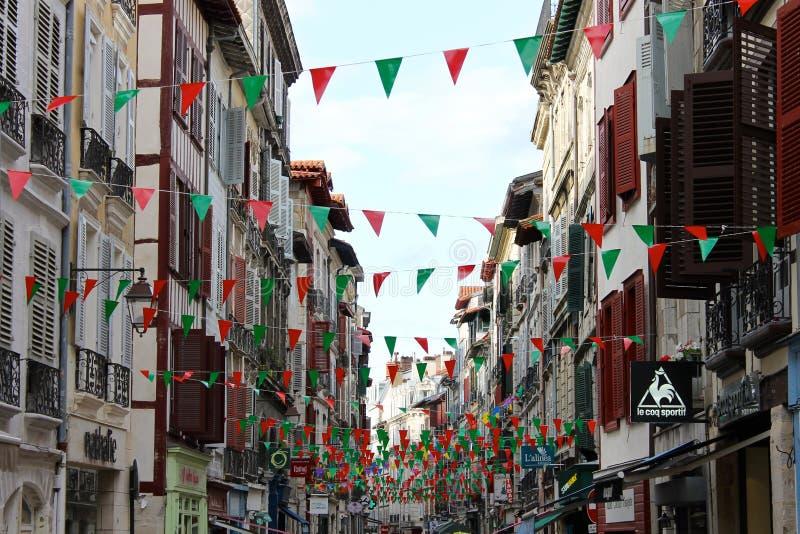 Улица в Байонне, Франции стоковая фотография