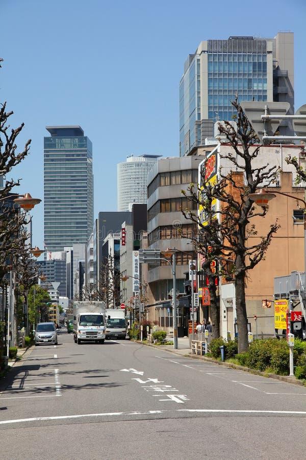 Улица в Нагое, Японии стоковое фото rf