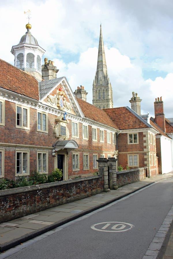 Улица в Солсбери, Англия стоковая фотография rf