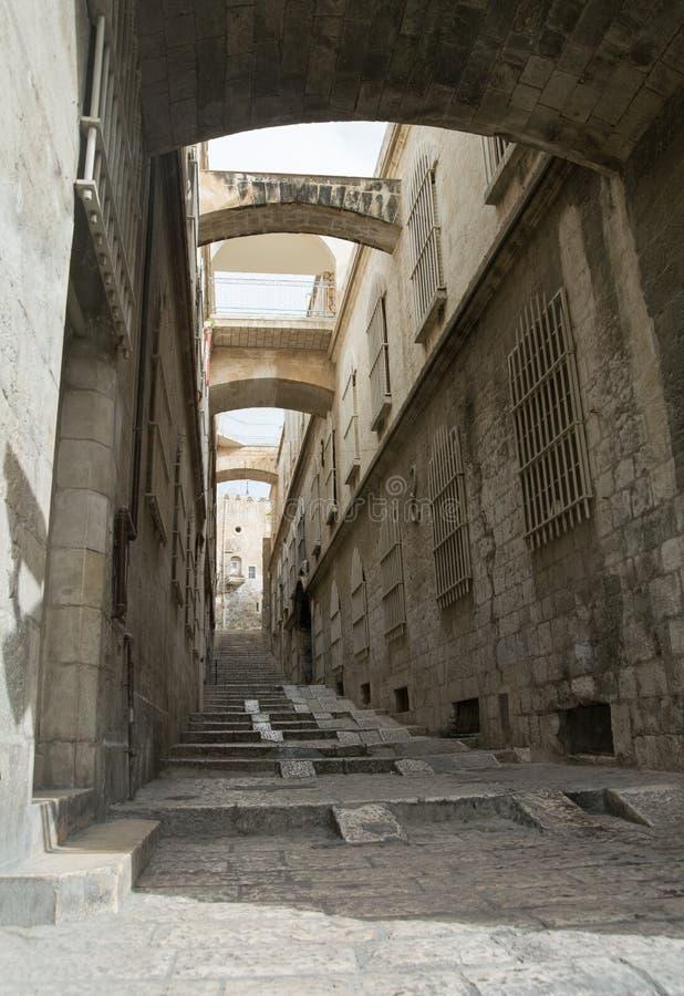 Улица в старом городе Иерусалима стоковое изображение rf