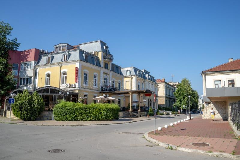 Улица в уловке в Болгарии стоковая фотография