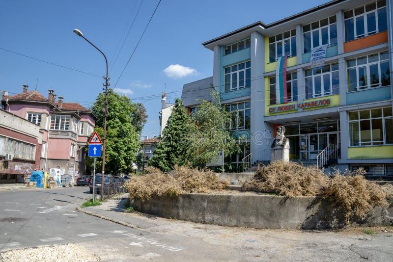 Улица в уловке в Болгарии стоковые фотографии rf