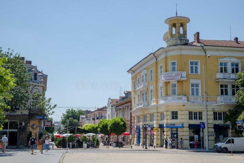 Улица в уловке в Болгарии стоковое изображение