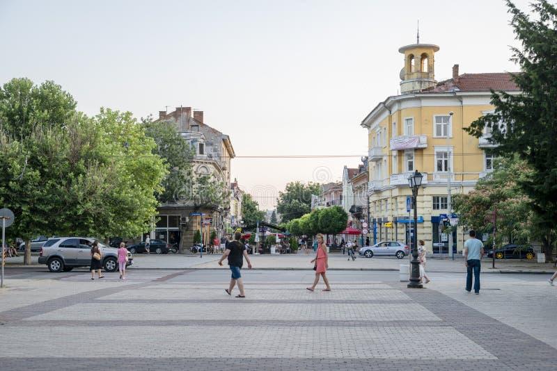 Улица в уловке в Болгарии стоковое фото