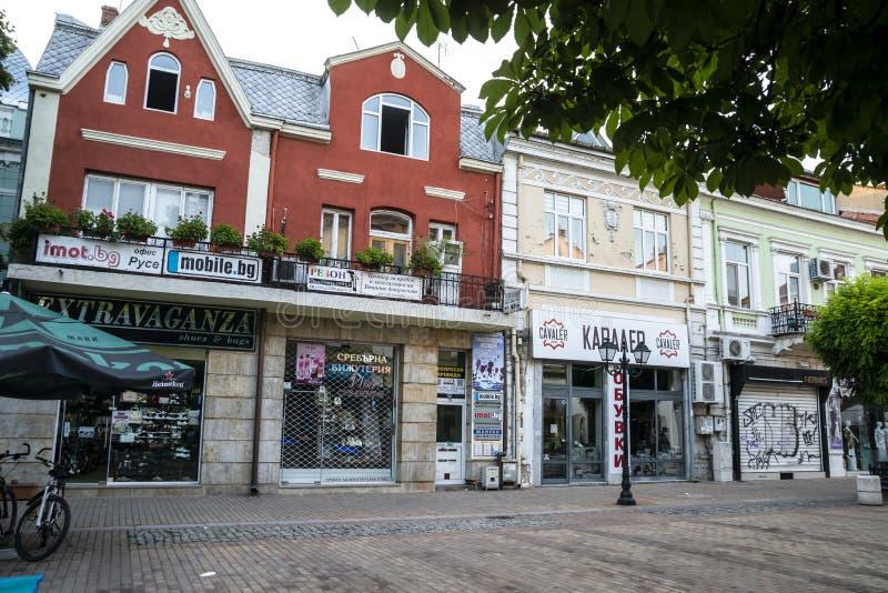 Улица в уловке в Болгарии стоковые изображения rf