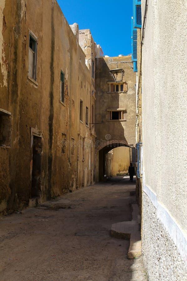 Улица в El Jadida, Марокко стоковое изображение