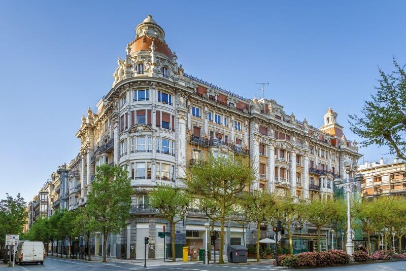 Улица в San Sebastian, Испании стоковая фотография