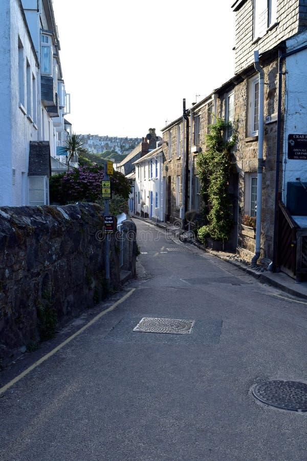 Улица в St Ives, Корнуолле, Великобритании стоковое фото