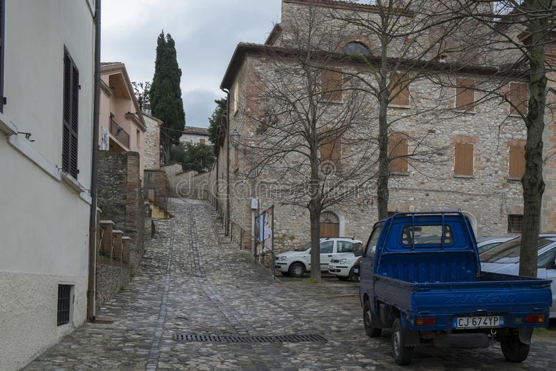 Улица в Verucchio, Италии стоковое изображение rf