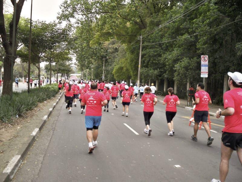 улица гонки 5k стоковое изображение rf