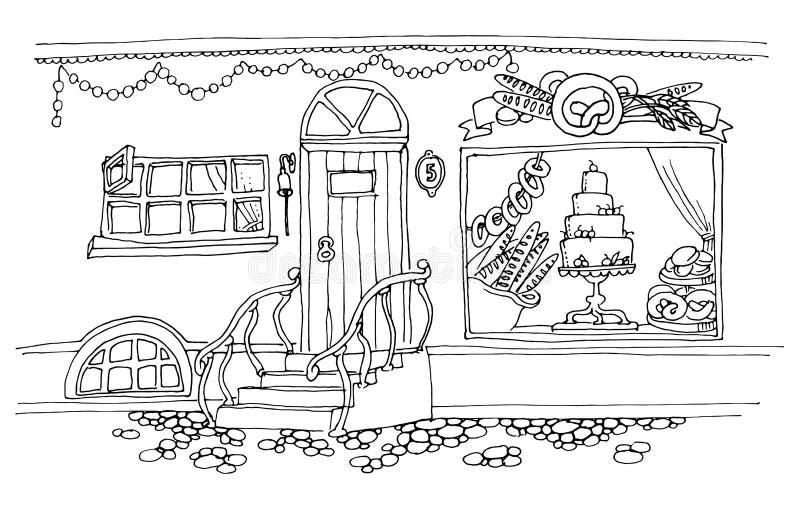 Раскраска витрина магазина игрушек