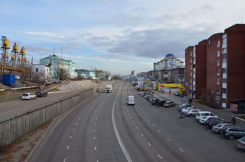 Улица городка стоковая фотография rf