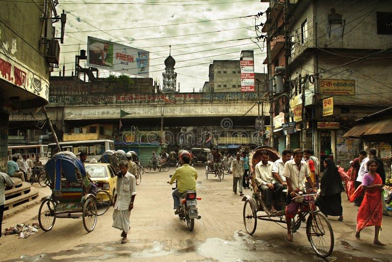 улица жизни dhaka старая стоковые изображения rf