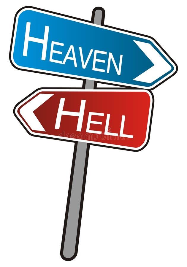 улица знака ада рая стрелок иллюстрация вектора