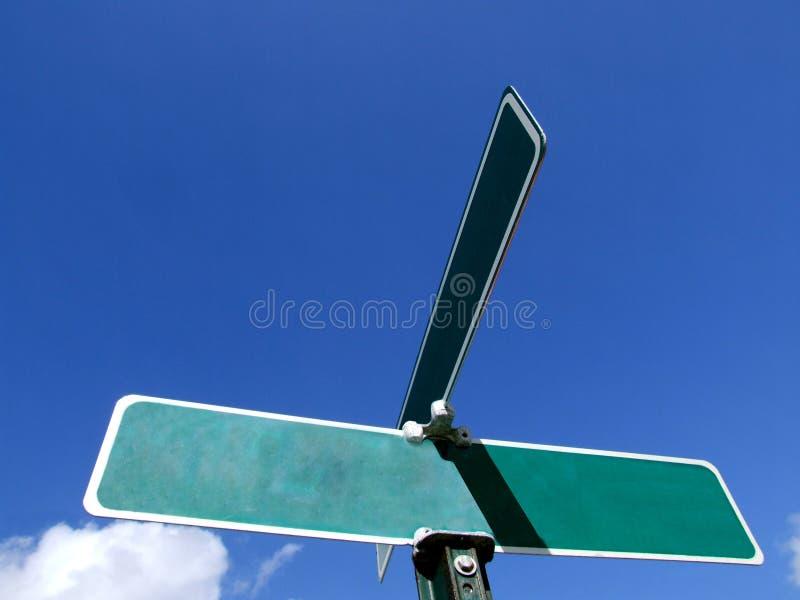 улица знака объявления пустая стоковая фотография rf