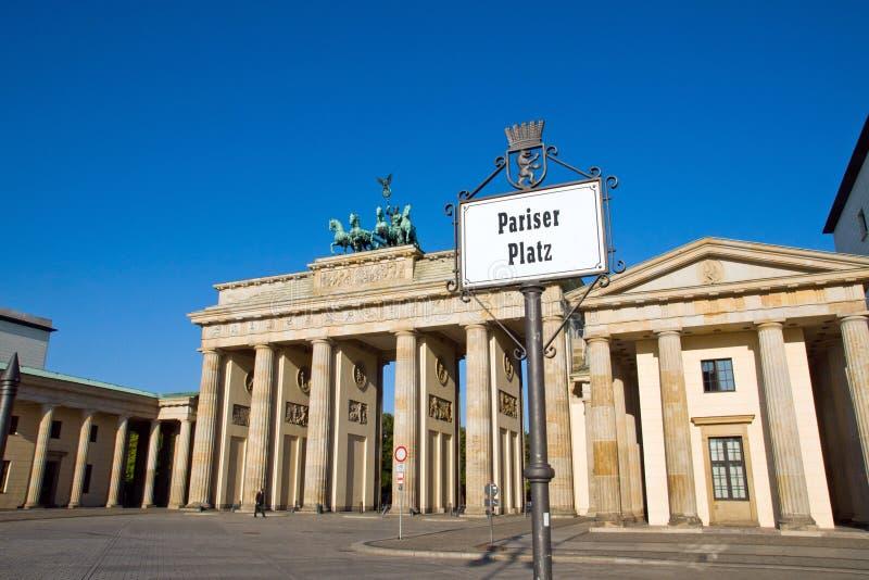 улица знака строба brandenburg стоковые изображения