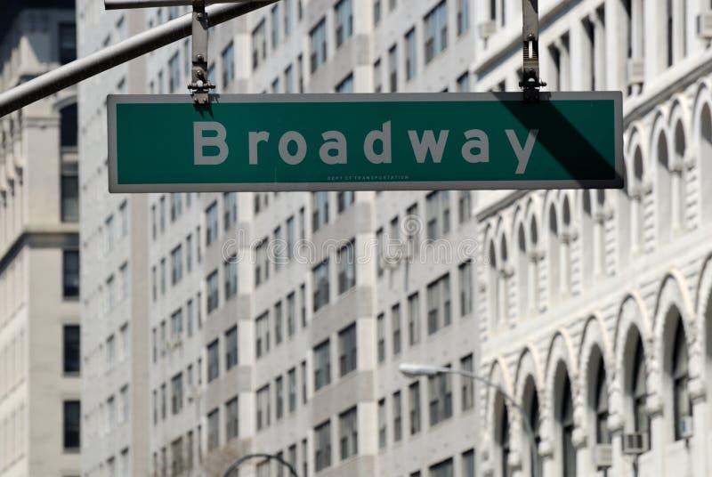 улица знака broadway стоковое фото