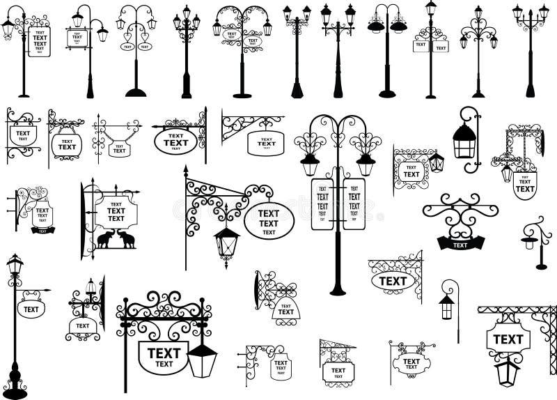 улица знаков фонариков бесплатная иллюстрация
