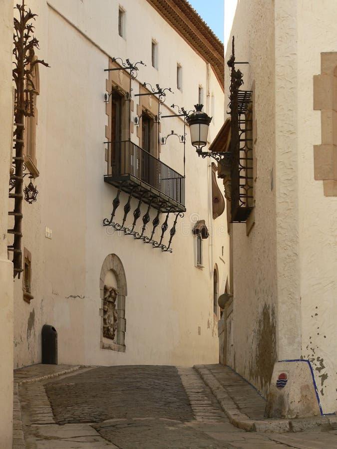 улица Испании sitges стоковое фото rf