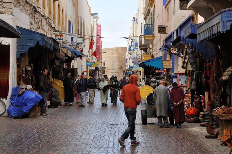 улица Марокко essaouria стоковое фото rf
