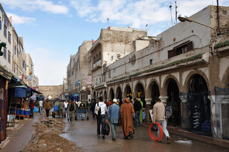 улица Марокко essaouria стоковое изображение rf