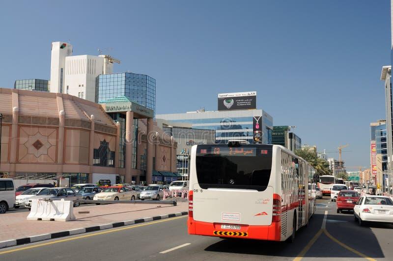 улица места Дубай города стоковое фото rf