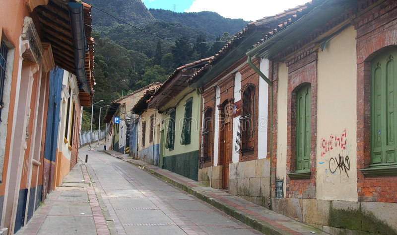 улица места bogota Колумбии стоковое фото rf