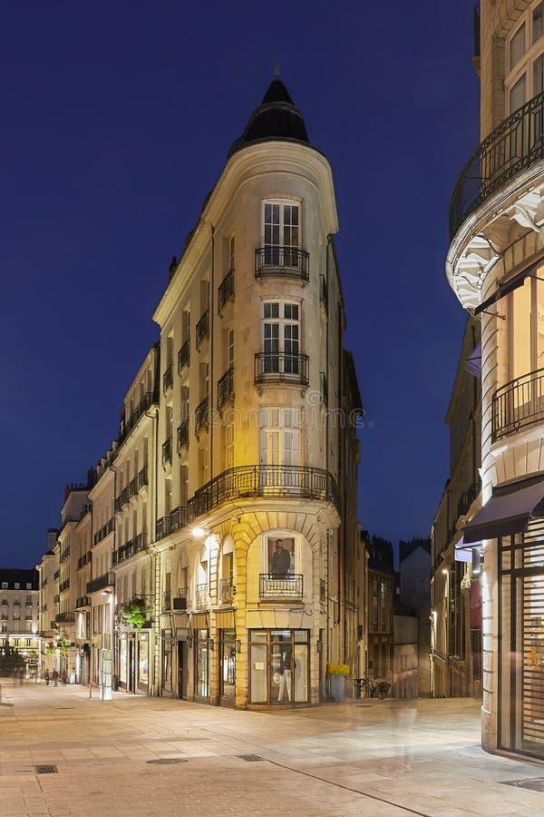 Улица Нанта высотой стоковое изображение rf