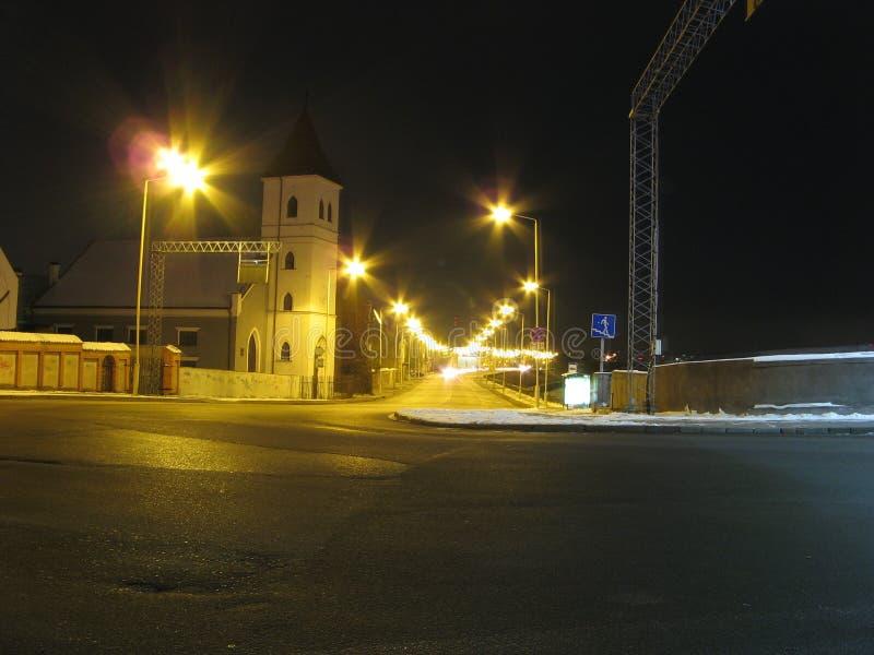 улица ночи стоковое изображение
