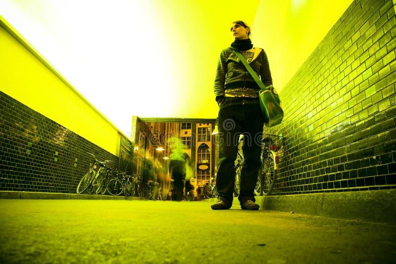 улица ночи стоковое изображение rf