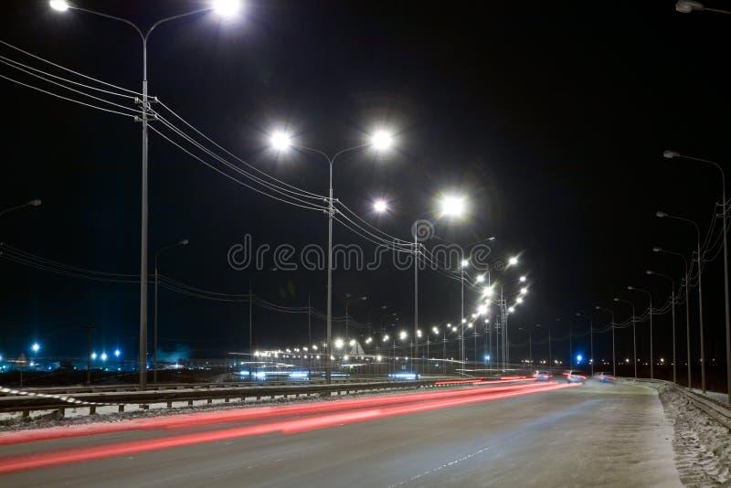 улица ночи стоковая фотография rf