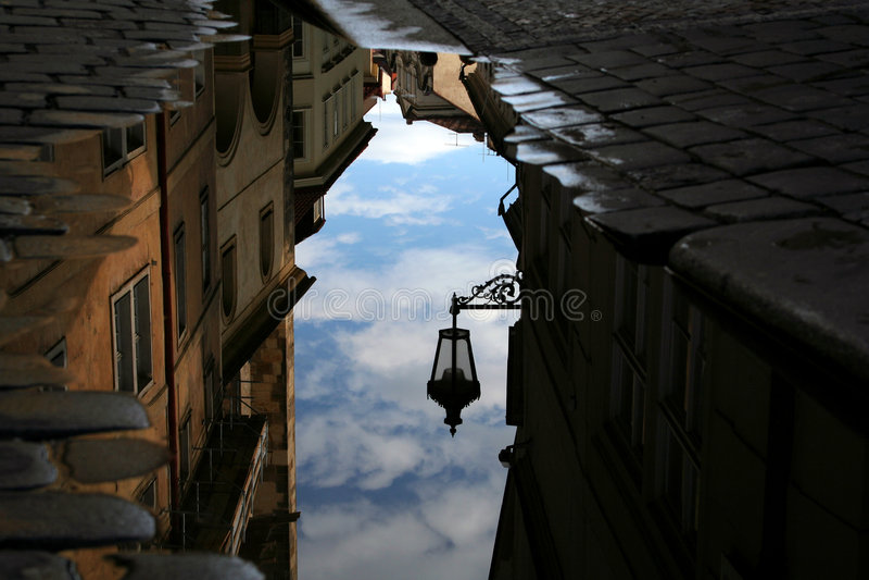 улица отражения светильника стоковое фото