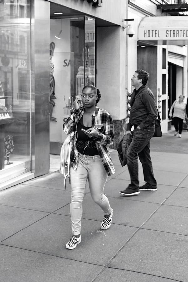 Улица Пауэлл, Сан-Франциско, Соединенные Штаты стоковые фото