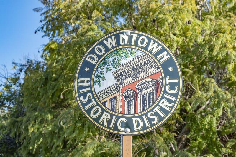 Улица подписывает внутри район San Luis Obispo городской исторический стоковое изображение rf