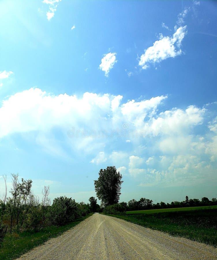 Улица ранчо стоковая фотография rf