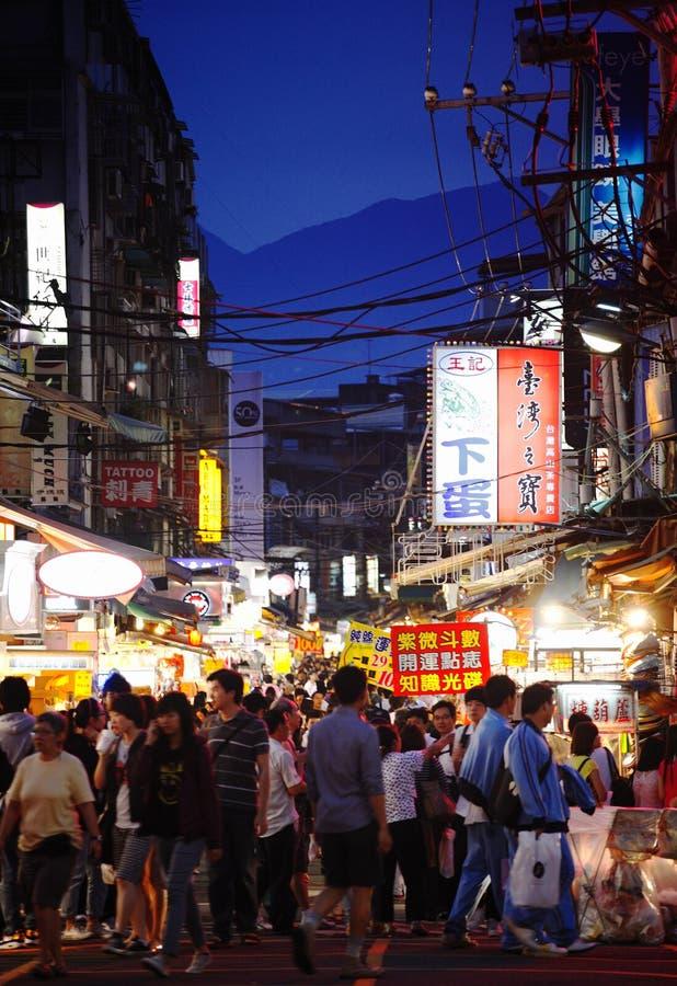 улица рынка taiwan стоковые изображения