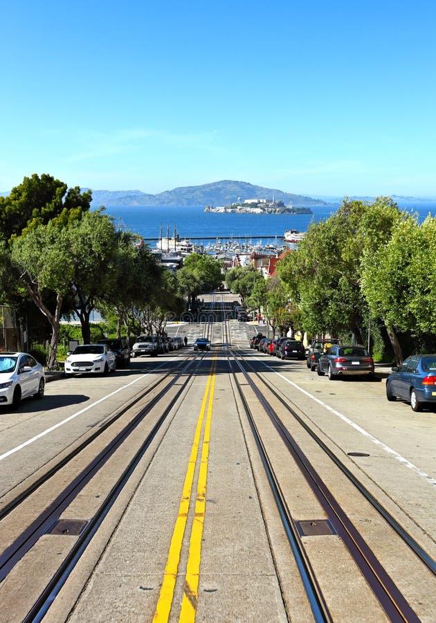 Улица Сан-Франциско Hyde стоковые изображения rf