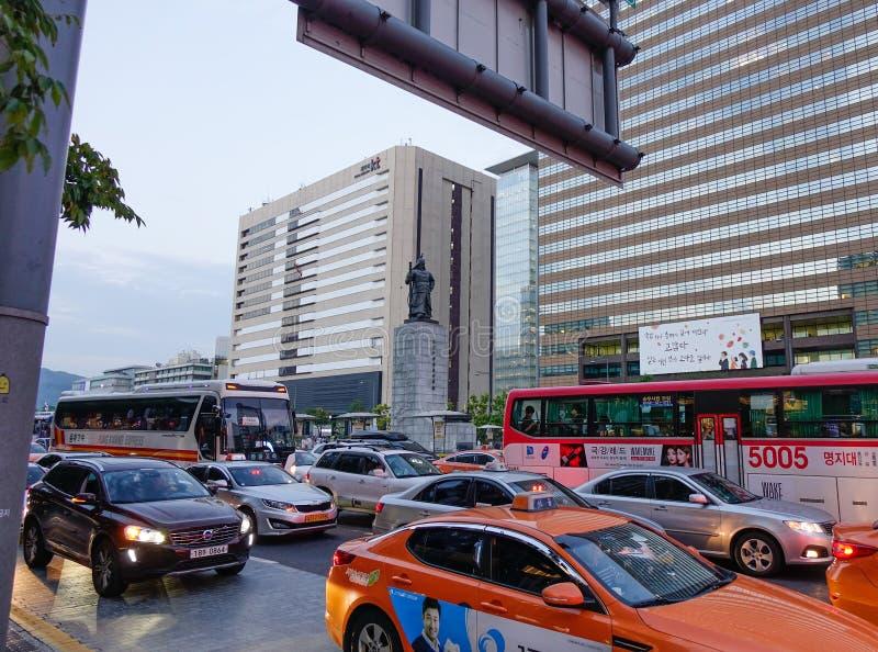 Улица Сеула, Южной Кореи стоковая фотография rf