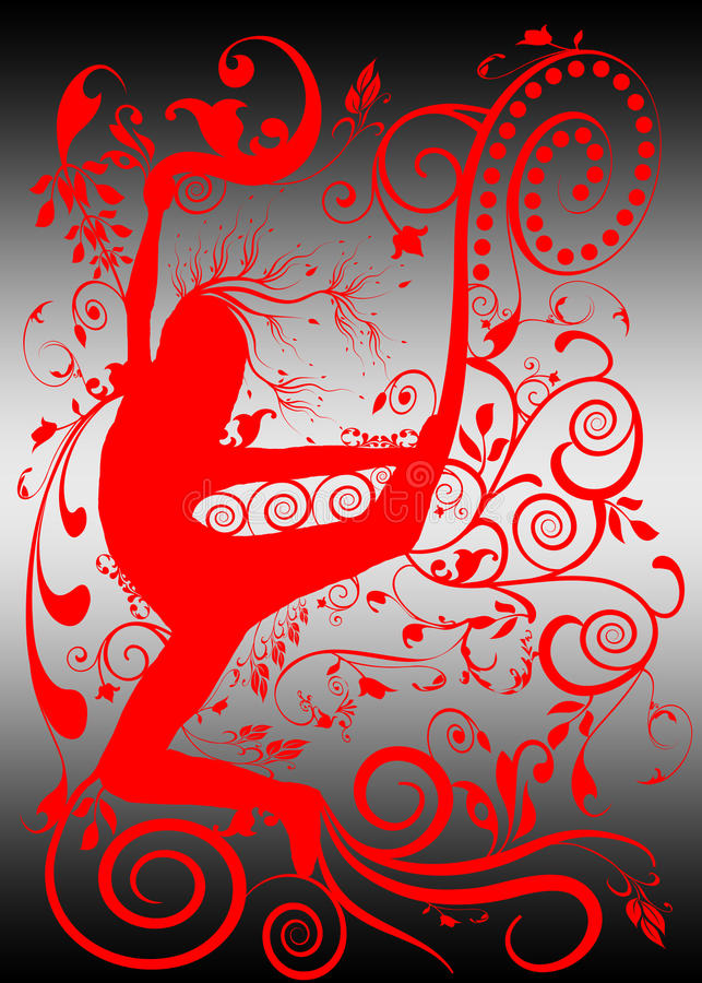 улица силуэта танцульки урбанская иллюстрация вектора