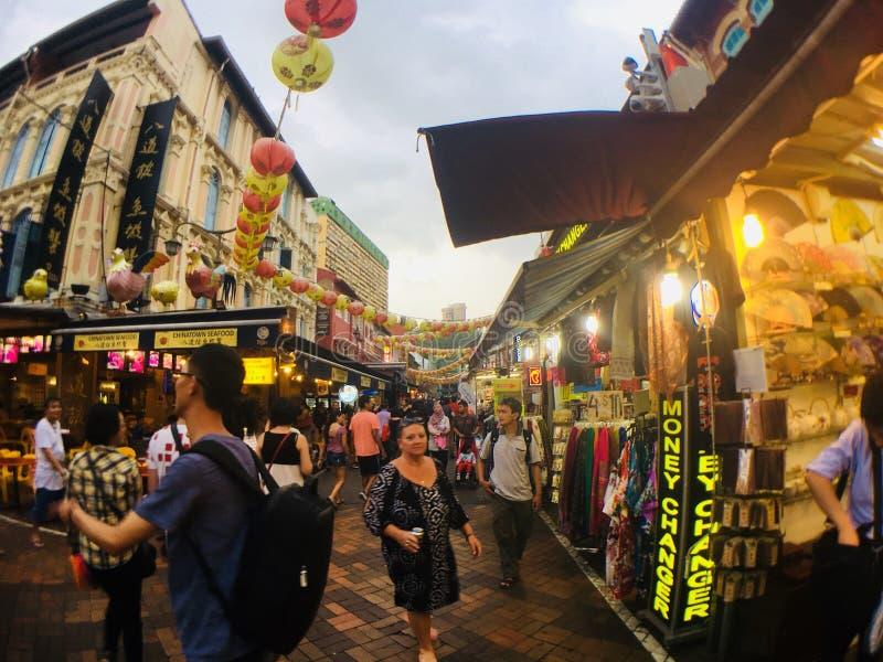 Улица Сингапура стоковое изображение