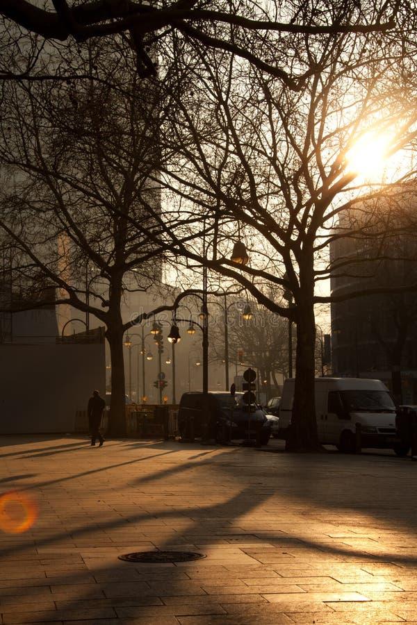 улица скрещивания budapest стоковое изображение rf